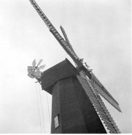 Low angle view of cap and sweeps, Davison's Mill, Stelling Minnis