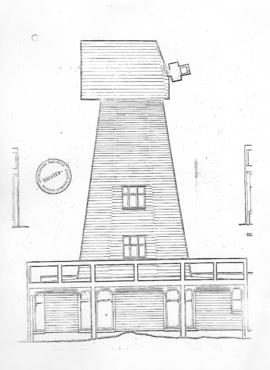 Part of a drawing relating to proposed work to base of mill