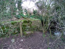 Remains of mill on Bow Brook