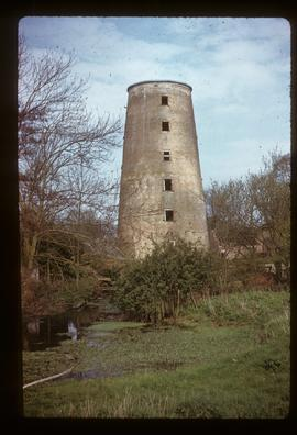 Derelict capless tower of tower mill (combined wind- and watermill)