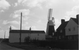 View from road, tower mill, Bardwell