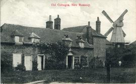 Old cottages, smock mill, New Romney