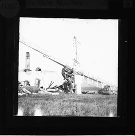 Wreckage after collapse, Glyndebourne Mill, Ringmer