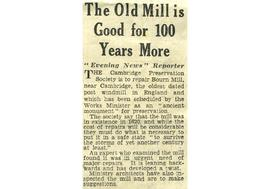 """The old mill is good for 100 years more"""
