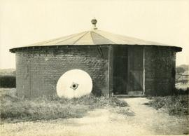 Roundhouse with mill stone, Lower Dicker Mill, Chiddingly