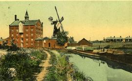 Gamnel Wharf Mill, Tring, and steam mill by canal