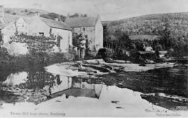 View from up river, Thrum Mill, Rothbury