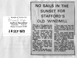 """No sails in the sunset for Stafford's old 'windmill' """