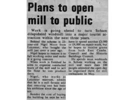 """Plans to open mill to the public"""