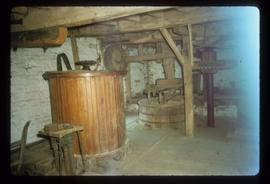 View of stone floor of unidentified watermill
