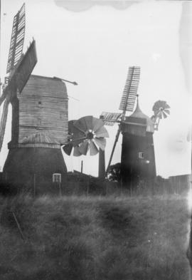 Tower mill and postmill, both complete