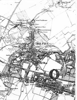 Section from OS map of Milton