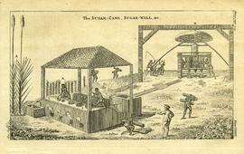 Old print of sugar mill
