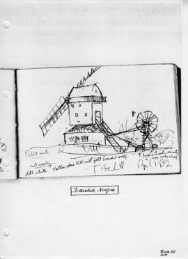 Tottenhill postmill and tailpole, Norfolk. Bk 27, no.30