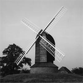 Post mill, Rolvenden, preserved with sails