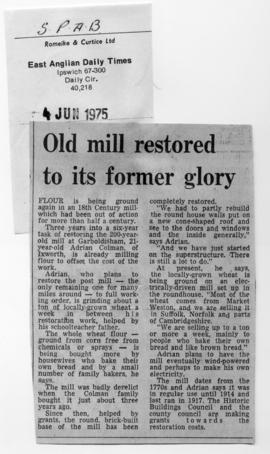 """Old mill restored to its former glory"""