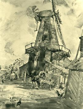 Delce Mill, Rochester, with horse and cart