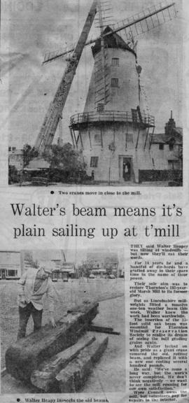 """Walter's beam means it's plain sailing up at t'mill"""