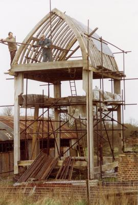 Scaffolding work to the body, post mill, Chinnor