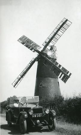 Hale Mill, Swavesey, with car