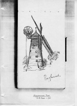 Sketch of Biggleswade Tower Mill