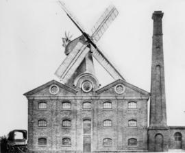 Stedman's Mill, Gillingham, with steam mill in foreground