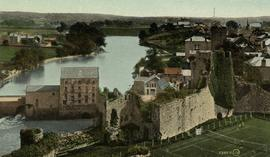 View from castle, watermill, Pembroke