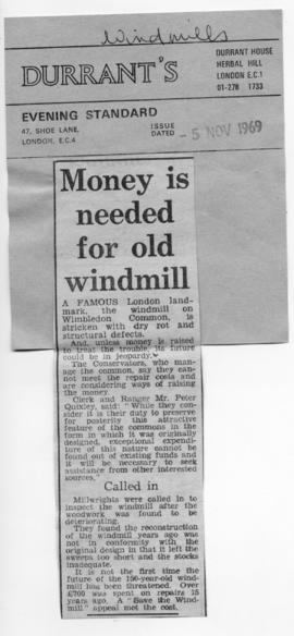 """Money is needed for old windmill"""