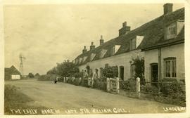 """The Early Home of Late Sir William Gull"" with wind engine"