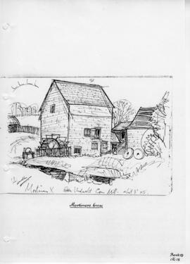 Mortimer's Cross watermill. Bk 19 No.18