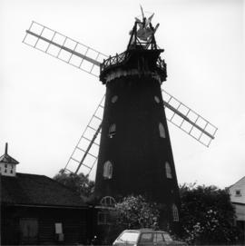 Exterior view of mill with sails 3 of 3