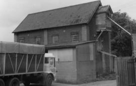Watermill, Copdock, with lorry