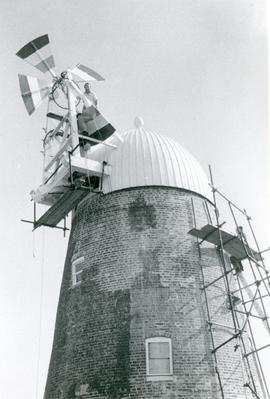 Assembling the Fantail, tower mill, Thelnetham
