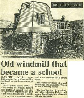 """Old windmill that became a school"""