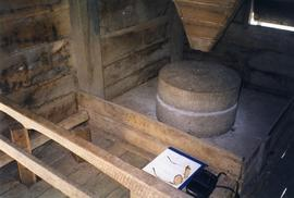 Photograph of inside a horizontal watermill, Ferrycarrig, Wexford, Ireland