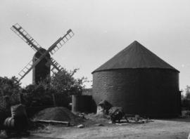 View of remains of two mills