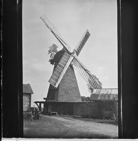 Smock mill, Earnley, in working order