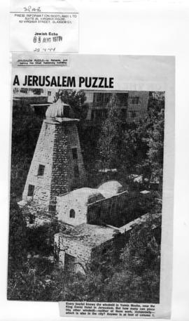 """Another disused windmill in Jerusalem"""