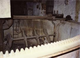 Photograph of watermill machinery, Kilbeggan Distillery, Westmeath, Ireland