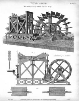 """Water Works. Machine for raising Water at London Bridge"""