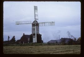 Post mill, Wrawby, reconstructed