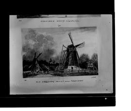 Photograph of drawing of two windmills