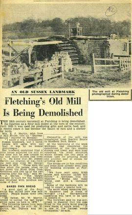 """Fletching's old mill is being demolished"""