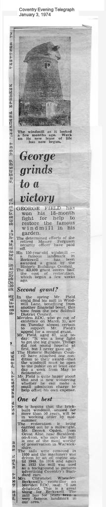 """George grinds to a victory"""