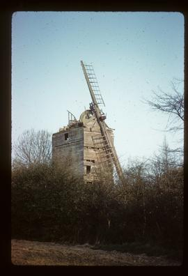 Royce's Mill, Birch, derelict, with brakewheel and two sails