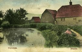 Manor Mill, Poynings, with house