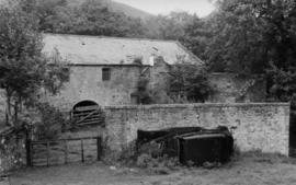 View of mill and entry gate, Little Mill, Rothbury