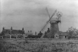 Tower mill, Blundeston, viewed from a field