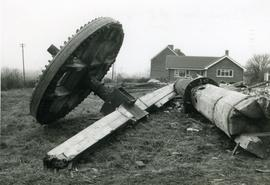Remains of millpost and wheel, Moreton