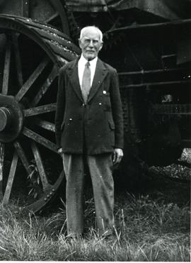 William John Holman by traction engine